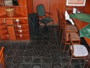Fußboden einer Kneipe
