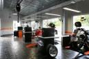 Fußboden aus Basaltplatten bei Harley Davidson