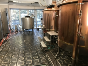 Basalt tiles - industrial floor - brewery 1