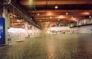 Basaltfußboden in einer Industriehalle